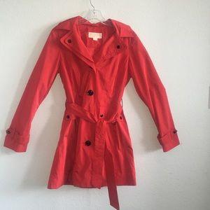 Michael Kors Red Trench Coat